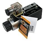 Flowfit cetop 3Válvula NG06único acting, 220V/AC 50hz, B & T puertos bloqueado, P puerto abierto a un puerto