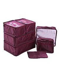 Ewparts 7 unidades bolsas impermeables nylon organizador de viajes, organizador de maletas (Mulberry)