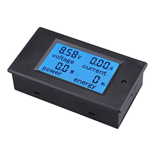 Banbie8409 DC-LCD 4-in-1-Multifunktionsmessgerät Spannung Strom Elektrische Energiezähler (Schwarz) Dclcd