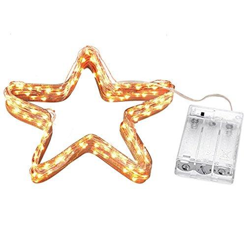 Cadrim Luci 10m 100 LED Stringa Fata Luce,Luci da esterno Bianco Caldo Impermeabile IP65,Striscia Luce Filo di Rame per Decorazione Casa Matrimonio Natale Decorazioni Festive