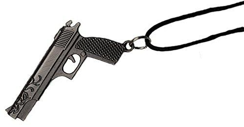 topt mili Pendentif Pistolet Revolver Colt 1911 m16 Acier Noir Sons of Anar Paintball Airsoft Us USA