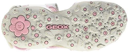 Geox Roxanne A, Sandales Fille Blanc (C0406)