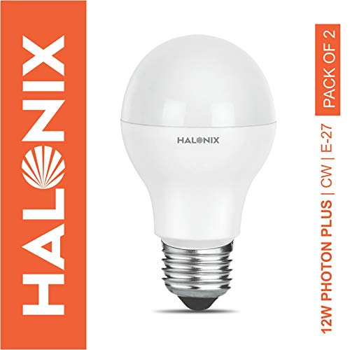 Halonix Photon Plus Base E27 12-Watt LED Bulb (Pack of 2, Cool Day Light)