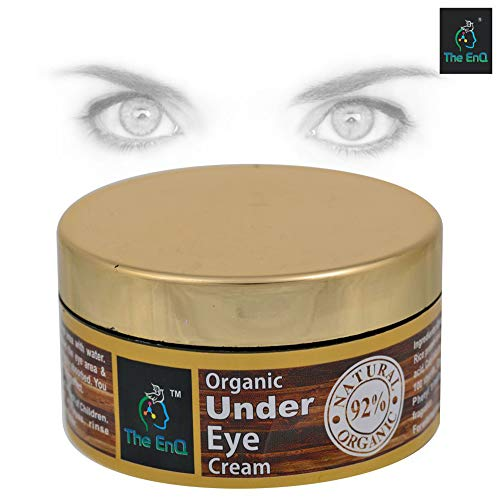 The EnQ 92% Natural Organic Under Eye Cream 50ML || For Brightens Your Eyes, Helps SmoothenThe Skin Under Your Eyes, Treats Dark Circles & Puffiness, Hydrates & Rejuvenates ||