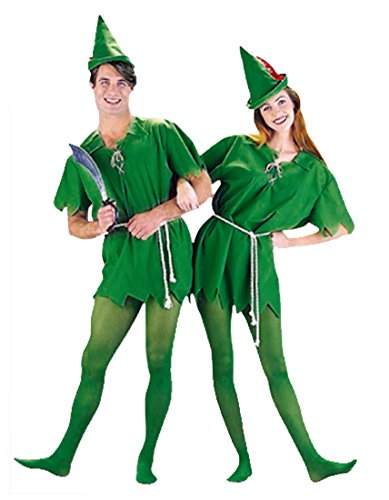 Peter Pan Kostüm Dr Haken Märchen Pixie - Herren Grün Weiser Mann Kostüm