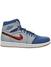 sports shoes 212e3 37150 Jordan Air 1 Retro High Nouveau Scarpe da Uomo Lupo Grigio Foglia Oro Blu