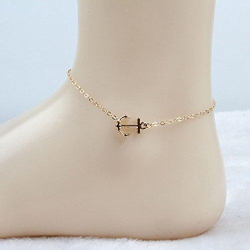 jovono Beach Fußkettchen gold Knöchel Armbänder Foot Kette für Frauen und Mädchen