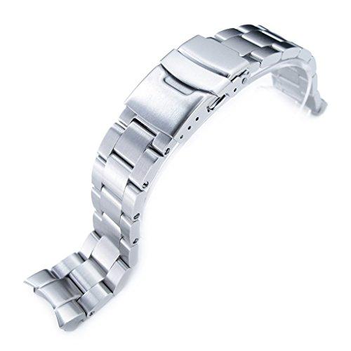 20mm Super Oyster braccialetto orologio per SEIKO skx013, spazzolato in acciaio inox 316L, Basic