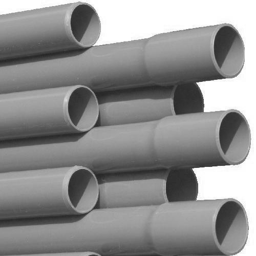 Mega PVC Druckrohr 12mm Grau PN16 Rohr 1m PVC-U