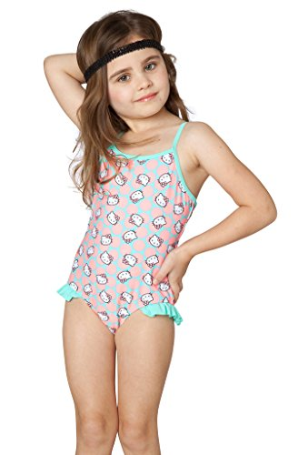 Hello Kitty Girls' Sweet Dreams One Piece (2T, Coral)