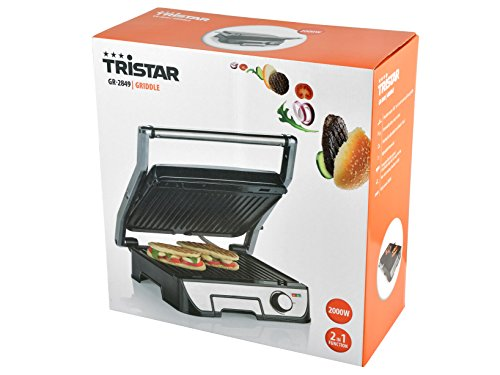 Tristar GR-2849 - Grill, carcasa de acero inoxidable