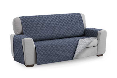 Textil-home salvadivano trapuntato copridivano malu 4 posti reversibile. colore blu
