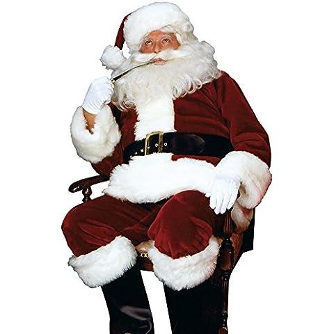 Adulto Deluxe carmesí Imperial Santa Claus