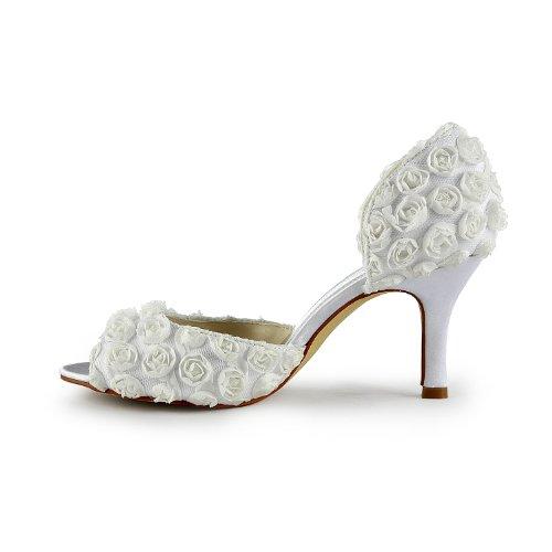 Jia Jia Wedding 31011 chaussures de mariée mariage Escarpins pour femme Blanc