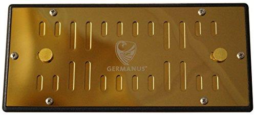 GERMANUS Metall Humidor Befeuchter mit Kristallen Kassette XL Gold II, - Kristall Befeuchter