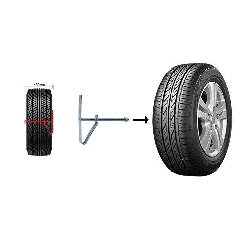 Reifenwandhalter 2er Set Reifenhalter Wand Stahl 2 Reifen 185 Reifenbreite