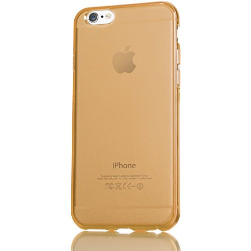 iPhone 6 Plus 6S Plus Hülle Handyhülle von NICA, Ultra-Slim Silikon Case Cover Crystal Schutzhülle Dünn Durchsichtig, Etui Handy-Tasche Backcover Transparent Phone Bumper - Transparent Gold Champagner Transparent
