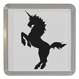 Unicorn Silhouette - Plastique transparent thé Coaster / Mat bière