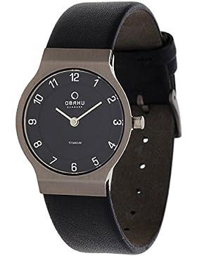 Obaku Damen Armbanduhr Schwarz V133LTBRB1