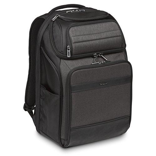 """Targus CitySmart – Mochila profesional para transportar el portátil de 12.5""""-15.6″ y sus accesorios, color negro y gris"""