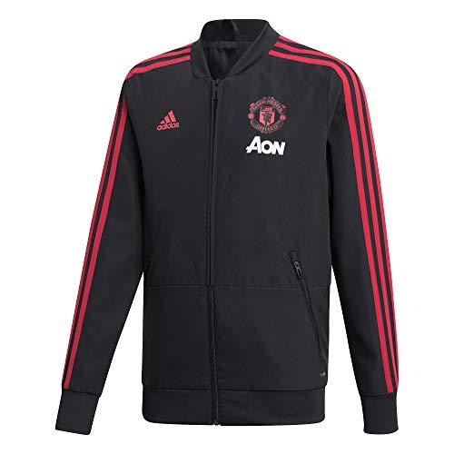 Adidas manchester united fc presentation - felpa per bambini, bambino, cw7631, black/blaze red/core pink, 164