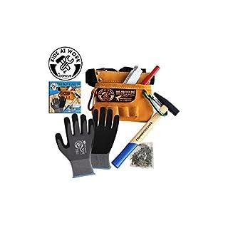 CORVUS A600116 - Kids at Work Werkzeuggürtel mit Inhalt, Verschiedene Spielwaren