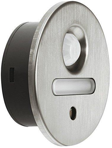 Möbel-Sockelleuchte LED-Einbauleuchte rund Unterbauleuchte Edelstahl gebürstet - Loox 2028 | Möbelleuchte sensorgesteuert - 12V | Anbauleuchte warmweiß 2700 K | Energieeffizienzklasse A+