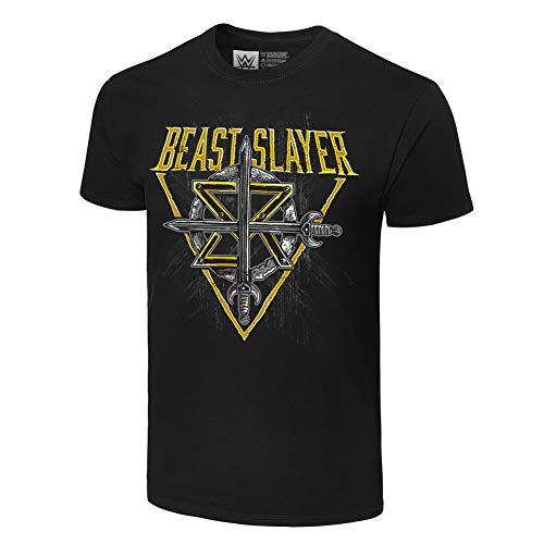 Seth Rollins BeastSlayer Authentic T-Shirt - Schwarz - Mittel (Für Wwe-shirts Männer)