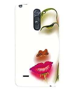 Fuson Premium Floral Girl Printed Hard Plastic Back Case Cover for LG G3 Stylus D690
