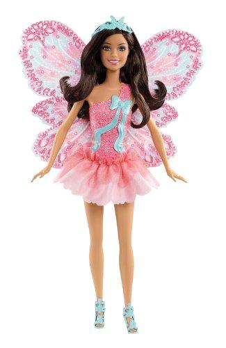 Schmetterlingsfee brünett, Puppe mit abnehmbaren Flügeln (Fee Mit Flügel)