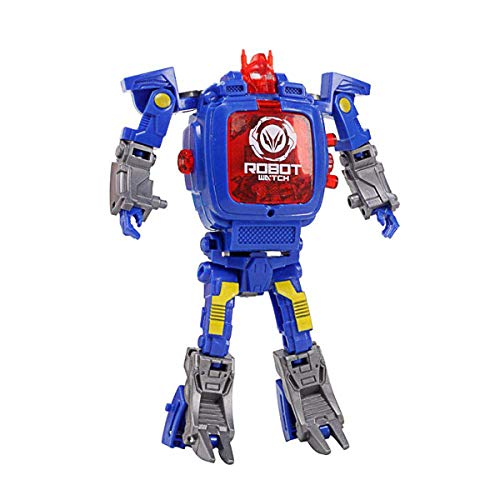 HIsmil Toy Watch Transformers Spielzeug Kinder 2 in 1 Elektronische Transformatoren Spielzeug Uhr Deformierte Roboter Manuelle Transformation Roboter Spielzeug Kinder Geschenk