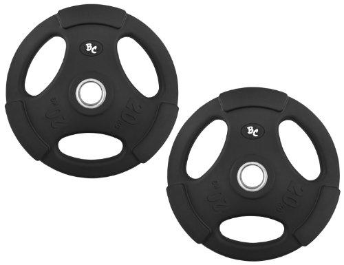Gummi-Gripper 40,0Kg (2x20,0) Hantelscheiben Hantel Gewichte Hanteln 30/31mm