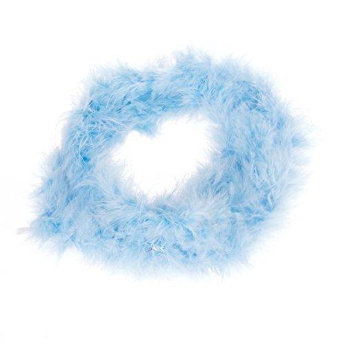 Fliyeong Premium-Qualität Blue Feather Boa Flauschige Basteldekoration 2 Meter lang