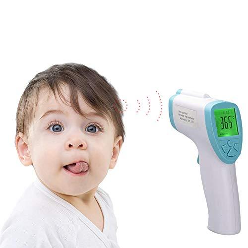 HEIRAO Ohrstirnthermometer, digitales medizinisches berührungsloses Thermometer für Babys und Erwachsene, Fieberwarnung, Celsius und Fahrenheit