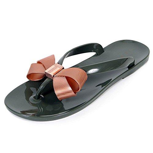 e100185ef Ted Baker Suszie - Khaki Rose Gold PVC (Green) Womens Sandals 6 UK ...