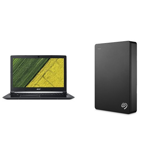 Acer Aspire 7 15.6-Inch Notebook (Intel Core i5-7300HQ, 8 GB RAM, 256 GB SSD, NVIDIA GeForce GTX 1050, Windows 10) + 4TB Seagate Backup Plus External Hard Drive