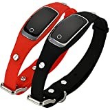 VCXZ Mini Animaux Silicon Waterproof Collar GPS GSM GPRS Tracker Temps réel GPS Locator + WiFi + LBS pour Location pistage Cat Geofence,Red...
