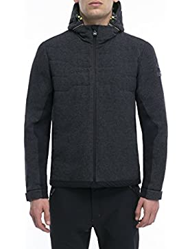 JEEP Chaqueta térmica con capucha extraíble en lana merina XP para hombre