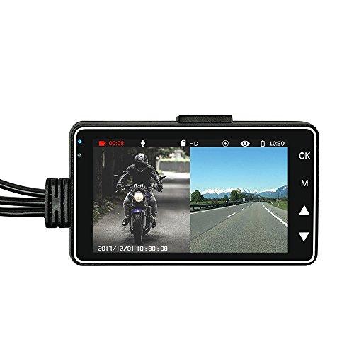 Dash CAM for Motorcycle, OXOQO Motorbike Recorder Cámara de Grabación con Cámara...