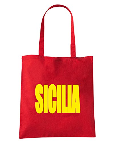 T-Shirtshock - Borsa Shopping T0947 sicilia calcio ultras Rosso