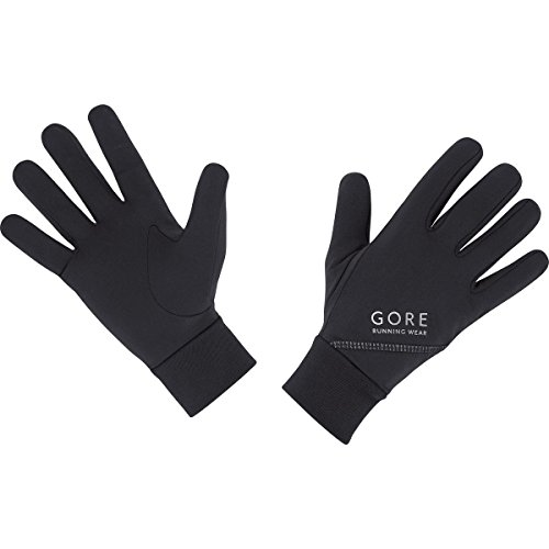 Gore Running Wear Essential - Guantes unisex, color negro, talla 9