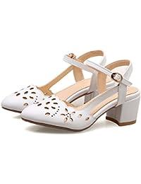 Para Blancas Zapatos Sandalias Mujer Amazon Tacon es De 45 z0gqZgw