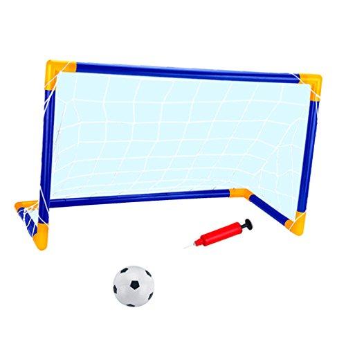 SM SunniMix Kit Football Game Tragbare Käfig Fußball 90 cm Tor Ziel Geschenk Kinder Spielzeug Im Freien -
