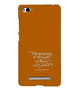 Fiobs Designer Back Case Cover for Xiaomi Mi 4i :: Xiaomi Redmi Mi 4i (One Day Love Important Person)