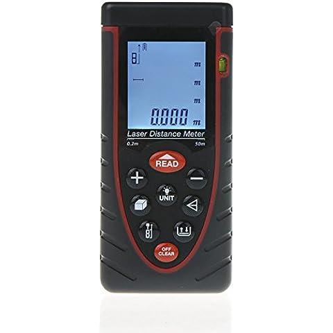 sprigy (TM) 50/50m Handheld Trena Golf telemetro Misuratore di Distanza Laser Range Finder con Bubble Level Tape Measure misurazione - Golf Distanza Finder