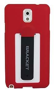 ImagineDesign(TM) Premium Bracket Super Slim Hard Back Case Cover with Inbuilt Stand for Samsung Galaxy Note 3 N9000 (Red)