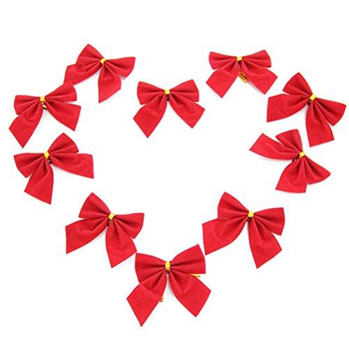 Pixnor Albero di Natale archi Bowknot rosso
