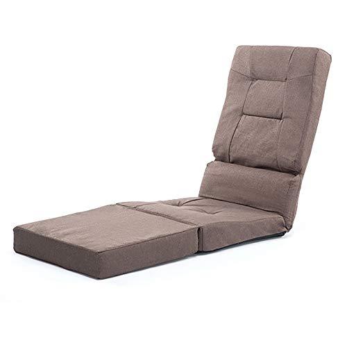 YIKUI Sofá Lounge Asiento Regulable Suelo con el Soporte de Respaldo, el...