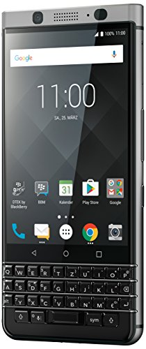 BlackBerry KEYone Business Smartphone (32GB interner Speicher, 3GB RAM, LTE, 12MP Kamera, 11,43 cm (4,5 Zoll IPS LCD Display)) silber (Corning Gorilla Glas Iphone 4)