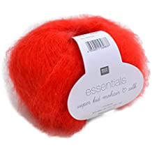 Rico essentials Super Kid Mohair Loves Silk, FB. 019 – Hilo Rojo, Lace